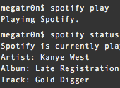 A command-line interface for Spotify on a Mac